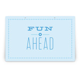 Blue Big Top Circus Party Greeting Signs