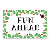 Little Ladybug Party Greeting Signs