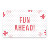 Sparkle Fte Party Greeting Signs