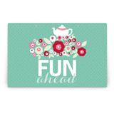 Retro Floral Garden Party Greeting Signs