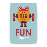 Robot Bleep Bleep Party Greeting Signs