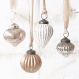 Vintage Metallic Mini Glass Ornaments