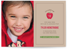 Red Apple Graduation Announcements
