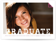 Patterned Graduate Graduation Announcements