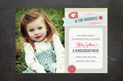 Cute as a Button Graduation Announcements