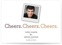 3 Cheers Graduation Announcements