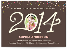Confetti Celebration Graduation Announcements