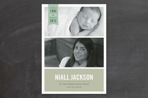 Baby to Graduate Graduation Announcements