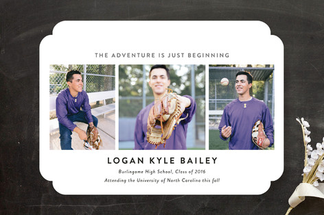 the adventure begins graduation announcements by s minted