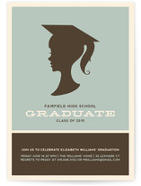 Graduate Silhouette Graduation Announcements