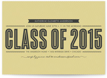Stripe + Type Graduation Announcements
