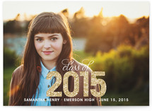 Glitter Graduation Announcements