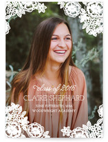 Floral Lace Graduation Announcements