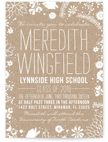 Craft and Florals Graduation Announcements