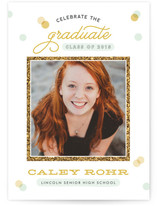 Golden Frame Graduation Announcements