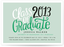 Handscript Party Graduation Announcements