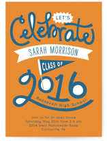 Lettered Class Graduation Announcements