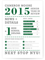 Year in Review Graduation Announcements
