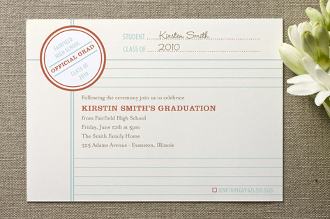 Grade School Graduation Announcements