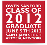 Block Graduation Announcements