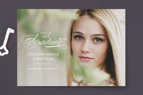 Stacked Elegance Graduation Announcements