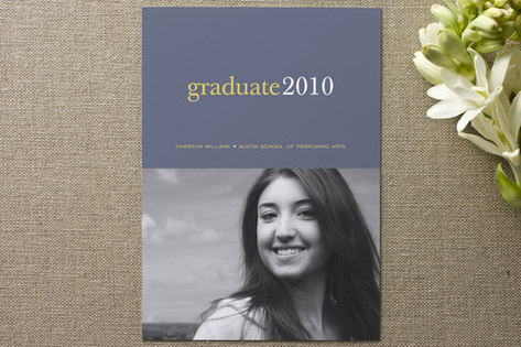 Pop of Color Graduation Announcements
