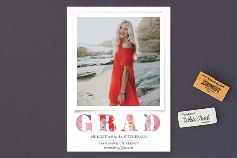 Painted Grad Graduation Announcements