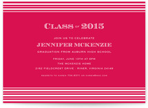 Spring Stripes Graduation Announcements