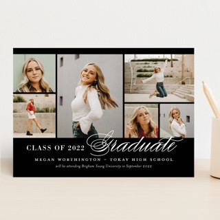 Photo Block Graduation Announcements