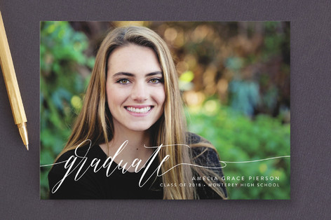 scripted graduate Graduation Announcements