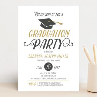 Chic Cap Graduation Announcements