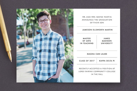 Intricate Graduation Announcements