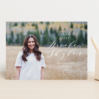 Scripted Name Graduation Announcements