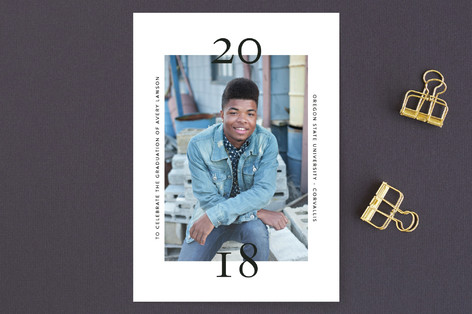 Bold Date Graduation Announcements