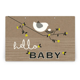 Nesting Bird Party Greeting Signs