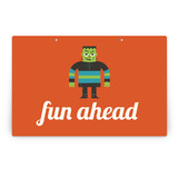 Monster Halloween Party Greeting Signs