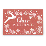 Vintage Reindeer Party Greeting Signs