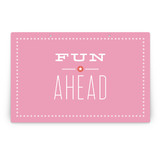 Pink Big Top Circus Party Greeting Signs