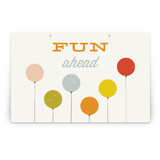 Colorful Balloons Party Greeting Signs