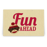 Sock Monkey Party Greeting Signs