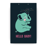 Baby Elephant Party Greeting Signs