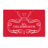 Patterned Floral Kraft Party Greeting Signs