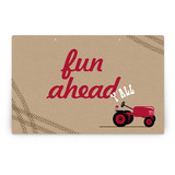 A Tractor Pull Party Greeting Signs