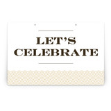 Sophisticated Chevron Party Greeting Signs