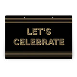 Wood Grain Party Greeting Signs