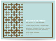 Treillis Moderne Housewarming Party Invitations