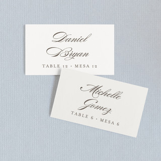 Love Language Wedding Place Cards