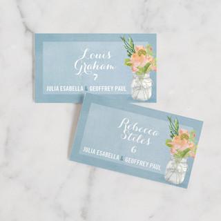 Bouquet D'Amour Wedding Place Cards