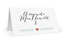 just married Wedding Place Cards