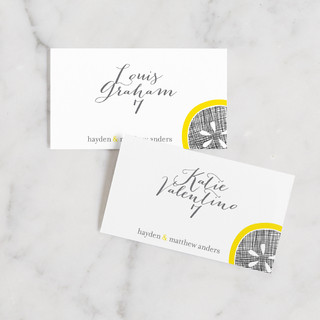 Lemon Drop Place Cards